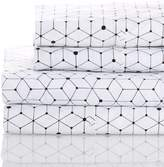Melange Home 400 Thread Count 100% Cotton Circle in the Square Sheet Set - Black/White