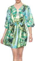 Ark & Co Green Watercolor Mini Dress