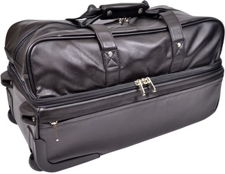 Royce Leather Royce New York Leather Trolley Duffel Bag