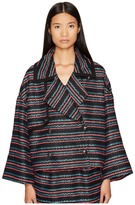Sonia by Sonia Rykiel - Tweed with Jersey Piping Jacket Women's Coat