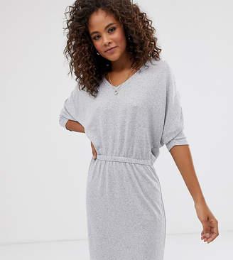 Noisy May Tall Tropall jersey dress-Grey