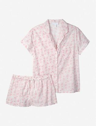 The White Company Paisley-print short cotton pyjama set