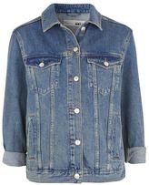 Petite western denim jacket