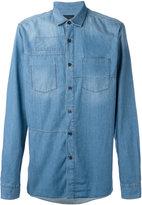 Lanvin patch detail denim shirt - men - Cotton - 39