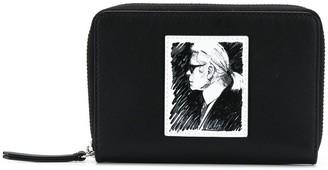 Karl Lagerfeld Paris Legend medium zipped wallet