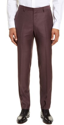 Tiger of Sweden Todd Flat Front Solid Wool Dress Pants