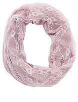 Charlotte Russe Lace & Knit Infinity Scarf
