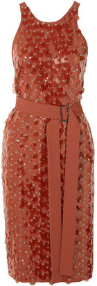 Bottega Veneta Embellished Stretch-crepe Wrap Dress
