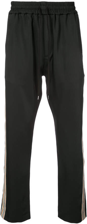 Cmmn Swdn side stripe BUCK track pants