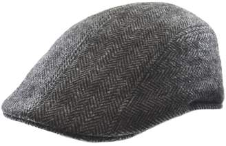 Black Brown 1826 Herringbone Wool Blend Ivy Cap