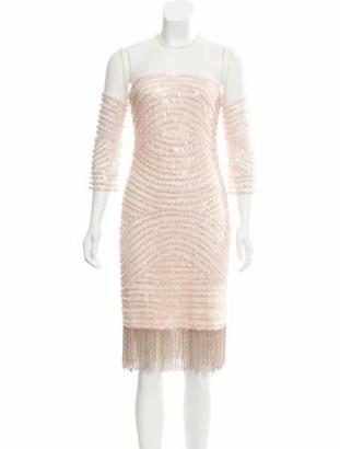 Naeem Khan Embellished Knee-Length Dress pink