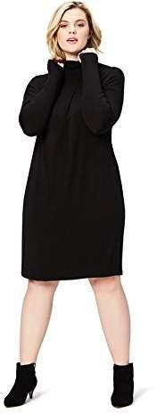 Plus Black Turtleneck Dress - ShopStyle