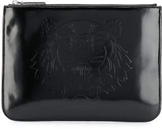 Kenzo tiger logo clutch bag
