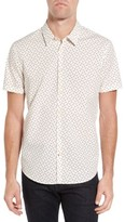 John Varvatos Men's Mayfield Slim Fit Print Sport Shirt