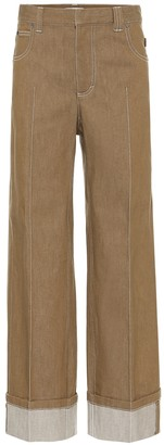 Chloé High-rise wide-leg jeans