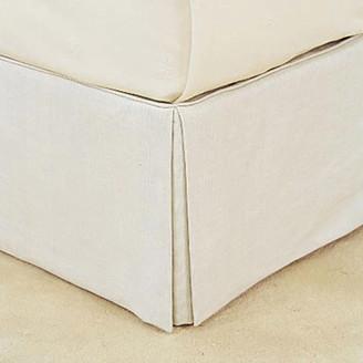 OKA Bed Valance 100% Linen, King Size - White