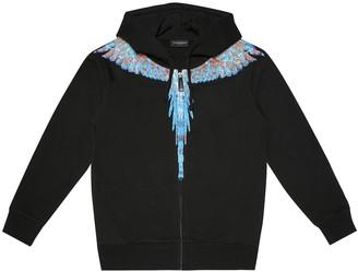 Marcelo Burlon Kids Of Milan Wings cotton-blend zip-up hoodie