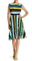 Gracia Pleated Stripe Dress