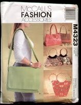 Mccall's McCalls Fashion Pattern 4323 Bags, Purses