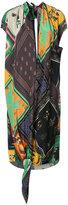 OSKLEN scarf pachtwork print dress