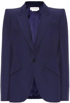 Alexander McQueen Single-breasted crepe blazer