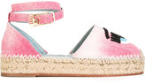 Chiara Ferragni Wink espadrille sandals - women - Cotton/Leather - 35