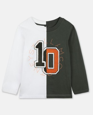 Stella McCartney Kids Logo Varsity Cotton T-Shirt, Men's