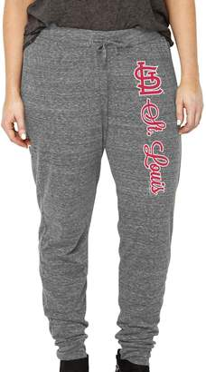 Unbranded Women's Soft as a Grape Heathered Gray St. Louis Cardinals Plus Size Jogger Pants