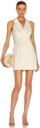 Fleur Du Mal Tuxedo Mini Dress in Ivory | FWRD