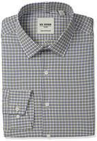 Ben Sherman Men's Skinny Fit Check Spread Collar Dress Shirt