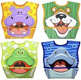 Dex Baby Dura-bib Big Mouth- 4 Pack (Hippo, Tiger, Frog, Dolphin) by