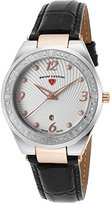 Swiss Legend Women's 'Passionata' Quartz Stainless Steel and Leather Automatic Watch, Color:Black (Model: 10220SM-SR-02)