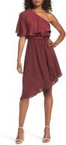 Charles Henry Women's One-Shoulder Asymmetrical Dress