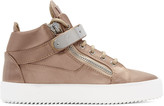 Giuseppe Zanotti SSENSE Exclusive Pink Satin May London High-Top Sneakers