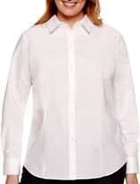 Liz Claiborne Long-Sleeve Wrinkle-Free Shirt - Plus