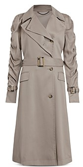 AllSaints Cecil Ruched Sleeve Trench Coat