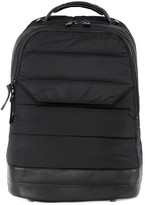 Mackage Bodhi Quilted Fabric Backpack With Leather Detail In Black
