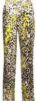 Roberto Cavalli Printed Silk Straight-Leg Pants