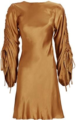 Shona Joy Wright Ruched Sleeve Mini Dress