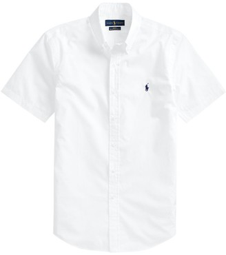 Ralph Lauren Cotton Slim Fit Short-Sleeved Shirt