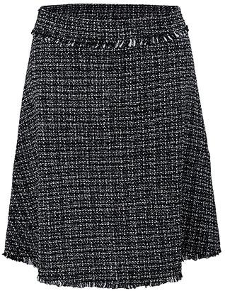 Lily Women's Career Skirts BLK - Black & White Tartan A-Line Skirt - Women