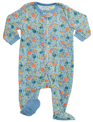 Leveret Blue Planets Footed Fleece Sleeper