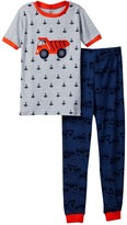 Petit Lem Dump Truck Pajama - 2-Piece Set (Toddler & Little Boys)