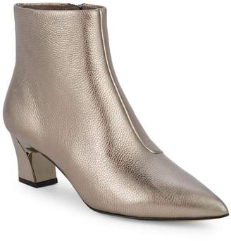 Karl Lagerfeld Paris Aurora Metallic Heel Ankle Boots