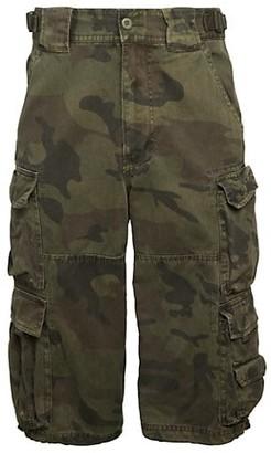 Jet Lag Camo Cropped Cargo Pants