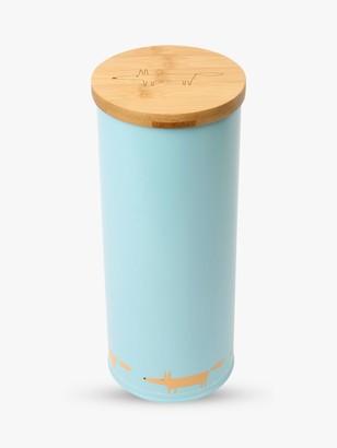 Scion Mr Fox Bamboo Lid Spaghetti Jar, 2.3L, Blue/Multi