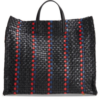 Clare Vivier Simple Woven Leather Tote
