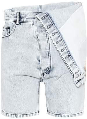 Y/Project Folded denim shorts
