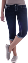 Amethyst Jeans Navy Denim Sequin Embellished-Pocket EmmaCapri Jeans - Plus