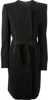 Roberto Cavalli whipstitch detailed coat